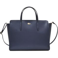 503f8aee88ca Lacoste Chantaco Trapeze bag ($300) ❤ liked on Polyvore featuring bags,  handbags, shoulder bags, blue, lacoste purse, blue hand bag, purse shoulder  bag, ...