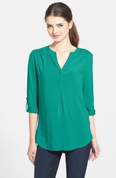 Pleione Mixed Media Tunic (Regular & Petite) available at #Nordstrom
