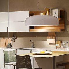CANOPY CHANDELIER KITCHEN LIGHTING IDEAS SMALL KITCHEN Contemporary Small Kitchens, Small Kitchen Lighting, Modern Lighting, Lighting Ideas, Kitchen Tops, Ceiling Rose, Canopy, Light Fixtures, Modern Design