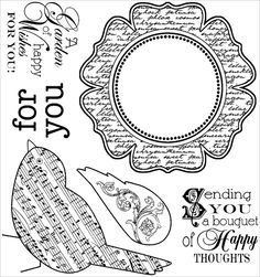 ☯☮ॐ Color it Yourself! ~ Greeting Card Happy Wishes