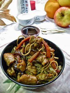 RECETA: Fideos chinos con pollo