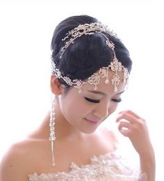 bohemian wedding headpieces   bohemia style wedding bridal jewelry crystal bead headpiece long ...