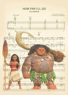 Moana and Maui Sheet Music Art Print by AmourPrints on Etsy Disney Sheet Music, Disney Songs, Disney Art, Disney Pixar, Deco Disney, Sheet Music Art, Images Disney, Disney Quotes, Disney Films