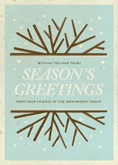 Rather Rustic Winterland Holiday Greeting Card