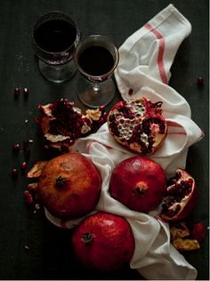 Pack a punch with pomegranates!  High in antioxidants, the ruby-red fruit is known for being a cure-all for ailments.   Tip: the best way to extract the seeds is by submerging portions of the pomegranate in water and tapping the seeds out with a wooden spoon.