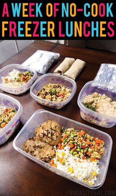Freezer Meals: Put together a week of no-cook make ahead meals to save time and…
