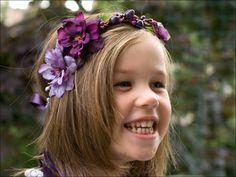 A flower girl crown in purple & lavender / NuageColore dawanda