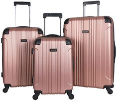 Just because it's luggage doesn't mean you can't opt for a stylish option! Kenneth Cole is known for its luxurious styles and classic details, and the Kenneth Cole Reaction Out of Bounds roller 20′ suitcase is no exception. Click through to see more options, you will love them! #TravelFashionGirl #TravelFashion #TravelLuggage #luggage #luggagebrands #luggageset Luggage Reviews, Luggage Brands, Travel Reviews, Best Luggage, Carry On Luggage, Travel Luggage, Travel Bags, Calpak Luggage, Pink Luggage