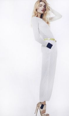 Chic white fashion