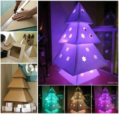 Creative Ideas - DIY Stunning Cardboard Christmas Tree | iCreativeIdeas.com Follow Us on Facebook --> https://www.facebook.com/iCreativeIdeas
