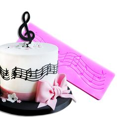 Musical note read music sugar lace mat fondant cake mold silicone mould decoration for wedding cake  kitchen tools