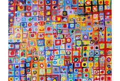 One Kings Lane - Mod & Pop - Julian Rapp, Untitled (Dots) Color Crayons, Boy Art, Painting Inspiration, Design Inspiration, Beautiful Artwork, Oeuvre D'art, Cool Photos, Amazing Photos, Design Art