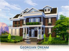 Georgian Dream house by Lhonna at TSR via Sims 4 Updates Check more at http://sims4updates.net/lots/georgian-dream-house-by-lhonna-at-tsr/