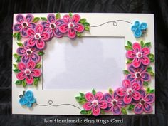 Lin Handmade Greetings Card: Quilling