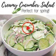 Salad Recipes Healthy Lunch, Best Salad Recipes, Cucumber Recipes, Salad Recipes For Dinner, Chicken Salad Recipes, Easy Salads, Easy Healthy Recipes, Vegetarian Recipes, Cooking Recipes