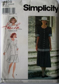 Simplicity 9425 Womens Two Piece Dress Suit Pattern by Denisecraft, $5.99