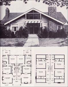 c1923 standard homes co the california technically a duplex but - California Home Floor Plans