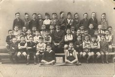 Budapest, Hungary, 1940, Third-grade students in an Orthodox elementary school. How sad to think of these innocent youth and teacher being sent to ghettos, then death camps.