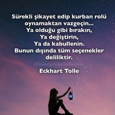 #eckharttolle #alıntı #farkındalık #kişiselgelişim #çekimyasası #günaydın Good Sentences, Life Sentence, Eckhart Tolle, Meaningful Words, Self Improvement, Positive Vibes, Reiki, Karma, Affirmations