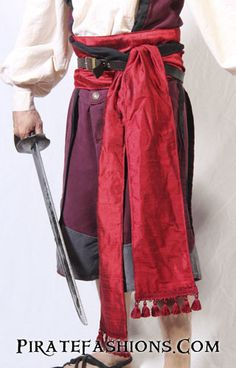 Exquisite Silk Pirate Sash – Pirate Fashions