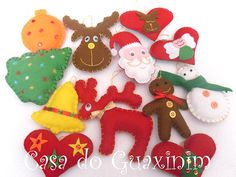Enfeites de Natal / Christmas ornaments by A.casa.do.Guaxinim, via Flickr