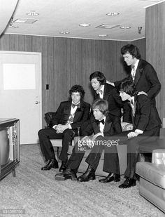 News Photo : Merrill, Jay, Alan, Donny and Wayne Osmond watch...