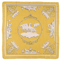 Hermes Vintage Silk Scarf 'Phaeton' by Henri Ledoux | From a collection of rare vintage scarves at https://www.1stdibs.com/fashion/accessories/scarves/