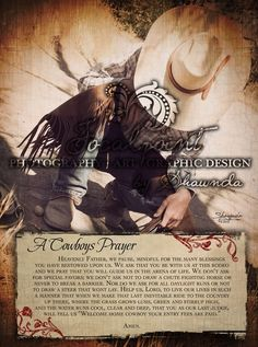 Cowboys Prayer 11x14 Print by focalpointdesign on Etsy, $8.00. MUST HAVE for the boys' room!