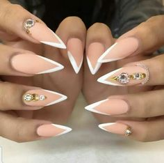 Would you try these beautiful stiletto nails?...