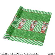 Shop Santa Claus Christmas Wrapping Paper created by The_Enchanted_Aunt. Unique Wrapping Paper, Wrapping Paper Design, Gift Wrapping, Paper Illustration, Santa Letter, Holidays With Kids, Present Gift, Christmas Wrapping, White Elephant Gifts