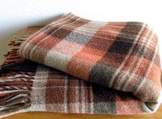 Vintage Pendleton Plaid Wool Blanket by MarketHome on Etsy
