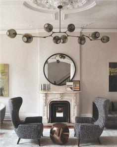 lighting, chairs, fireplace
