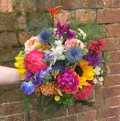 A bright wedding bouquet for the perfect Summer's day. Some Beautiful Images, Event Styling, Raven, Wedding Bouquets, Floral Design, Floral Wreath, Bright, Day, Summer