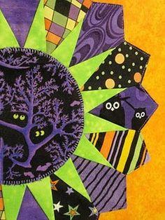 halloween dresden plate quilt block 2010