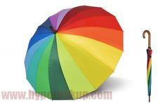 Dáždnik Doppler Natura London Rainbow - partnerský mechanický palicový, farby dúhy