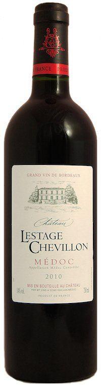 Chateau Lestage Chevillon Médoc 2010 AC - Super prijs-kwaliteit heeft deze fruitige Bordeaux uit het bekende Médoc. Cassis, braam en zeer zachte aanzet. Het fruitige midden gaat over in een afdronk met mooie aardse tonen. Bordeaux uit het topjaar 2010!