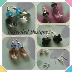 Crystal quartz butterfly earrings  you choose ear fittings clip on our pierced.  Available from my eBay store or Facebook.