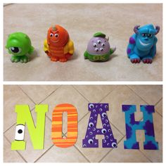 My four year old son wanted a Monsters Inc theme for his new room, so I made this based off the characters in the movie. He absolutely LOVES it, and it's been a huge hit with everyone! Can make other themes for boy or girl by request.
