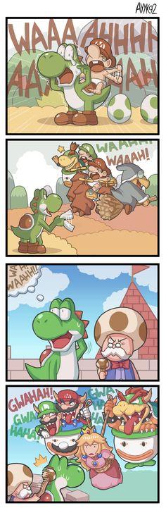 Infinity Gauntlet by on DeviantArt Super Mario Memes, Super Mario Art, Video Games Funny, Funny Games, All Mario Games, Mario Funny, Mario Comics, Gamer Humor, Mario Brothers