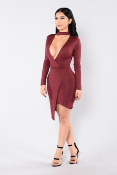 No Limits Dress - Wine