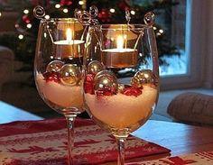 decoracion-navidena-con-copas