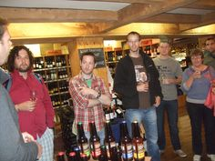 interested beer fans at the Wine Centre beer tasting 2012