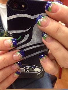 34 Best Seahawks Images In 2017 Pretty Nails Acrylic Nails