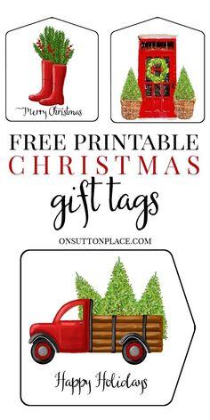 Get these free printable Christmas gift tags to add a custom touch to your gift wrapping! Digital download PDF will be emailed directly to your inbox.  #printablegifttags #Christmasgifttags #Christmaspresent