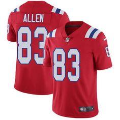Nike Patriots #83 Dwayne Allen Red Alternate Men's Stitched NFL Vapor Untouchable Limited Jersey