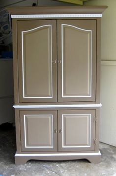 abodewell: Furniture Makeover! From boring, outdated armoire to very hip, modern and oh so tres chic Barmoire!