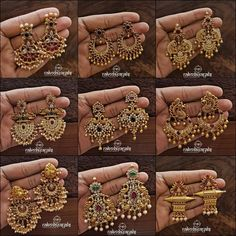 Shop Ultimate Gold Plated Pure Silver Earrings Collections Here! indian Shop Ultimate Gold Plated Pure Silver Earrings Collections Here! Indian Jewelry Earrings, Jewelry Design Earrings, Gold Earrings Designs, Silver Jewellery Indian, Gold Jewellery Design, Silver Jewelry, Silver Ring, Bridal Jewellery, Cz Jewellery