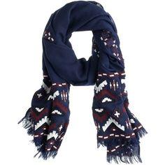 J.Crew Geo zigzag scarf