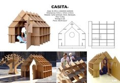 Cardboard house.  CartonLAB.