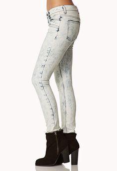 Bold Acid Wash Skinny Jeans | FOREVER 21 - 2074910981